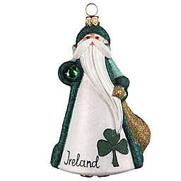 Glitterazzi Joy to the World Collectibles International Santa Ireland Christmas Ornament