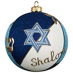 Joy to the World Collectibles Glitterazzi Judiaca Round Christmas Ornament