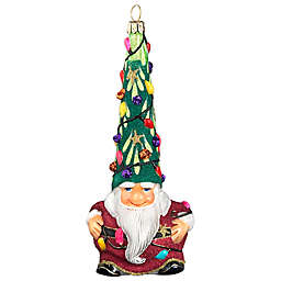 Glitterazzi Joy to the World Collectibles Gnnome Santa Hit the Lights Christmas Ornament