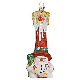 Glitterazzi Joy to the World Collectibles Gnome Sweet Gnome Snowman Christmas Ornament