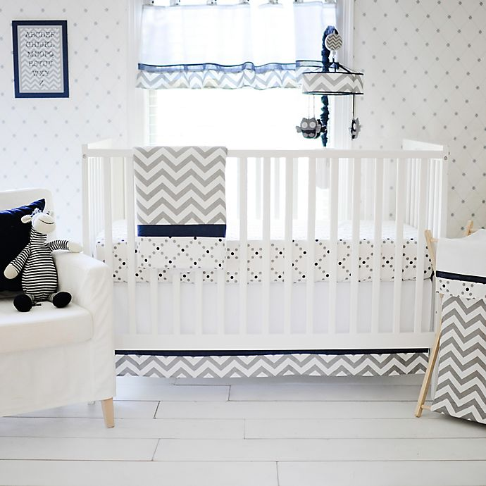 Alternate image 1 for My Baby Sam Out of the Blue 3-Piece Crib Bedding Set