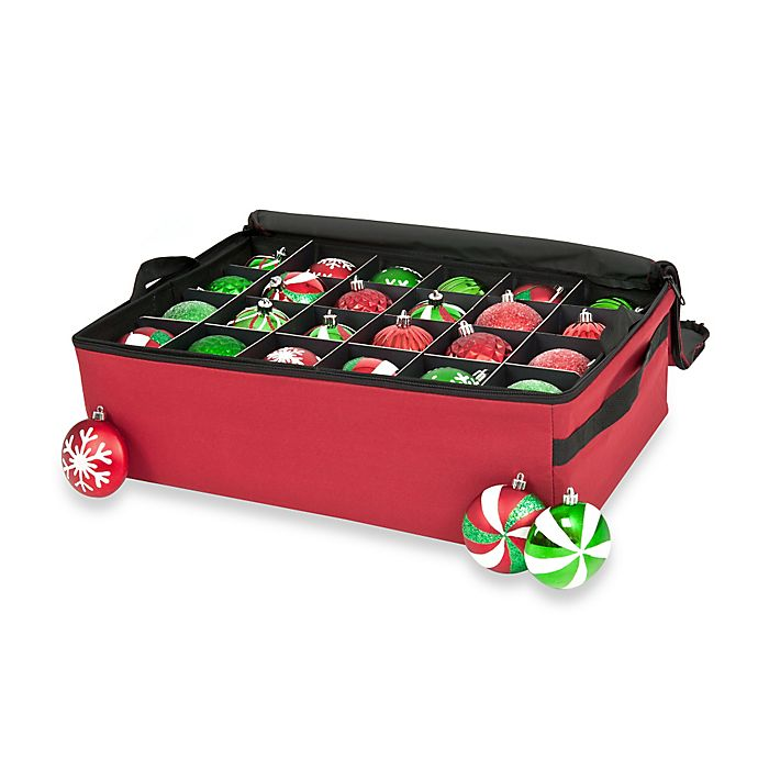Alternate image 1 for Two-Tray Christmas Ornament Storage Bag with Clear View Top