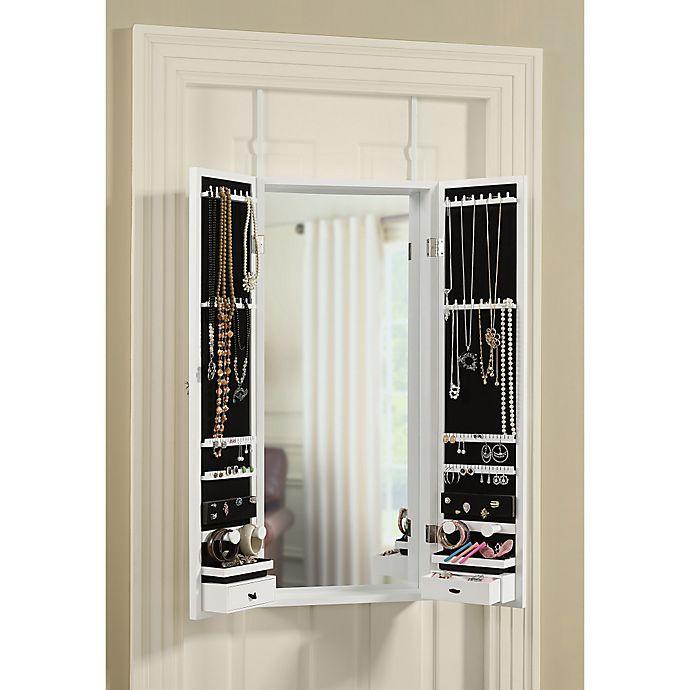 Door Solutions Over The Door Tri Fold Mirror And Jewelry Organizer