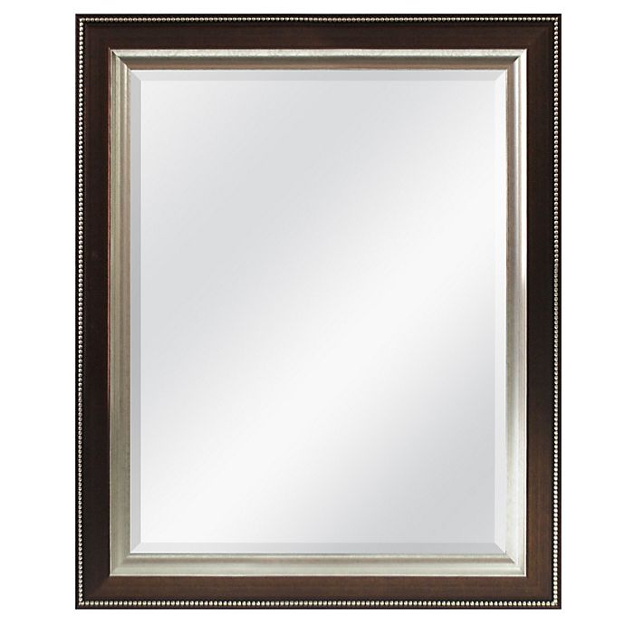 Alternate image 1 for Bronze Bead 26-Inch x 32-Inch Wall Mirror