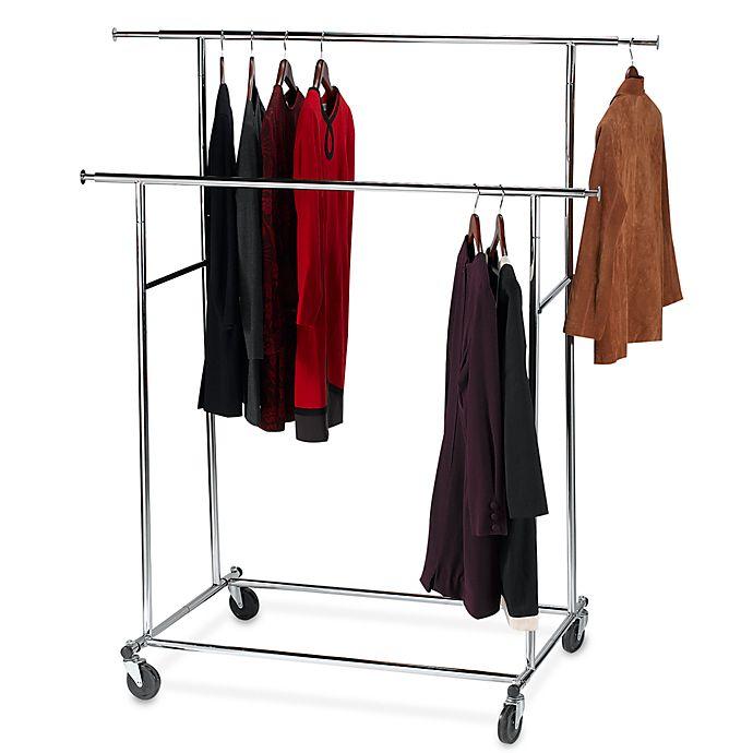 Alternate image 1 for Dual Bar Adjustable Garment Rack
