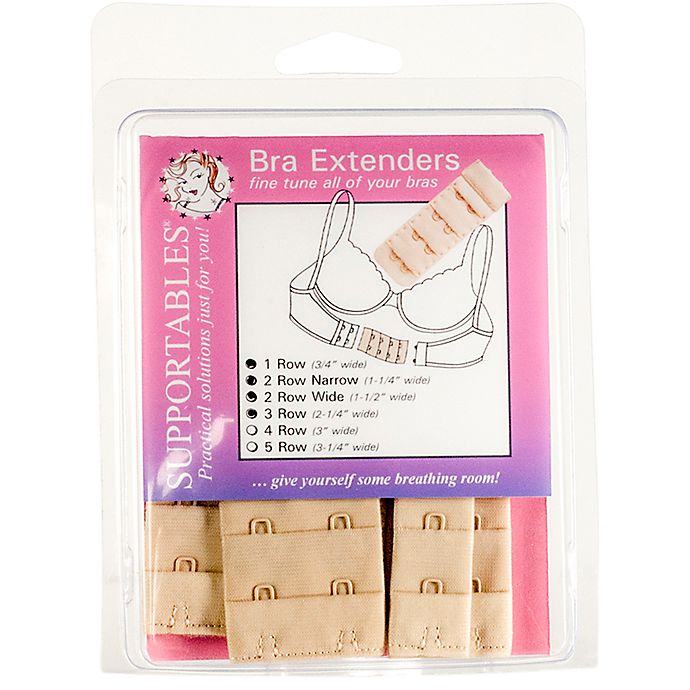 1a9ba053015be Supportables® 4-Pack 4-Hook Bra Extenders in Beige