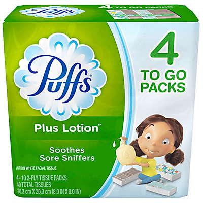 Puffs® Plus Lotion™ 4-Pack Facial Tissue