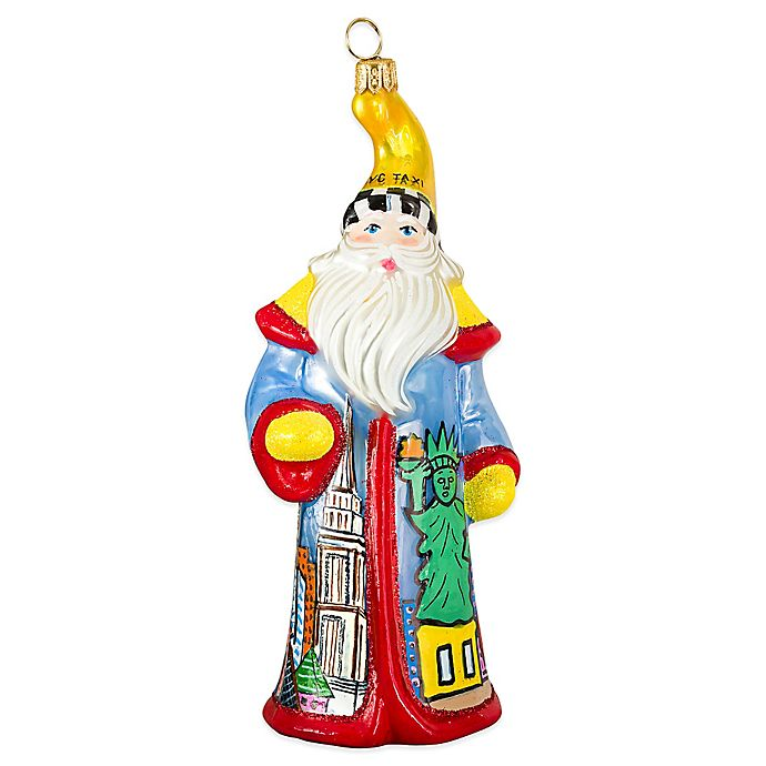 Alternate image 1 for Joy to the World Collectibles NYC Pop Art Santa Christmas Ornament