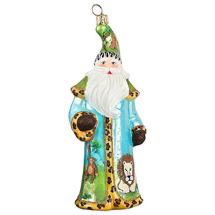 Alternate image 1 for Glitterazzi Joy to the World Collectibles Safari Santa Christmas Ornament