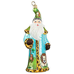 Glitterazzi Joy to the World Collectibles Safari Santa Christmas Ornament