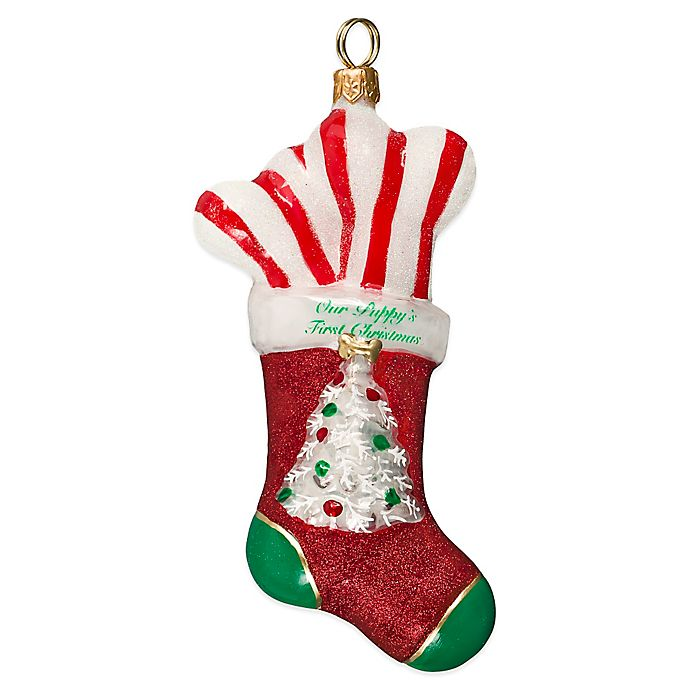 Alternate image 1 for Pet Set Joy to the World Collectibles Diva Dog Puppy's First Christmas Stocking Ornament