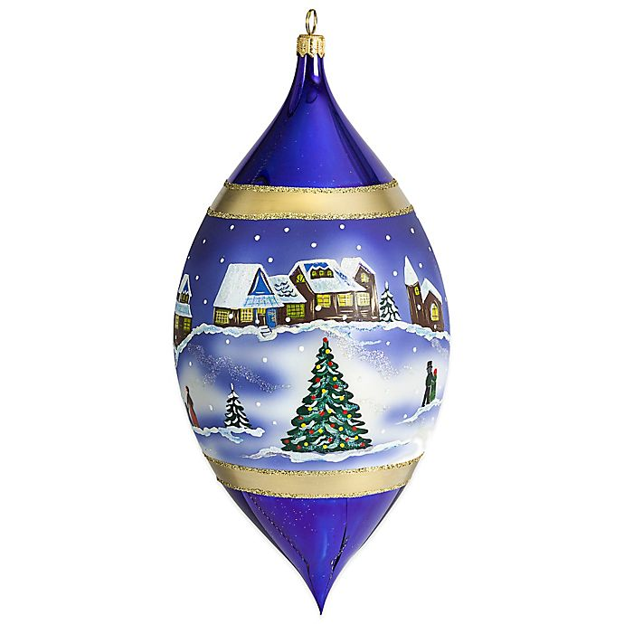 Alternate image 1 for Joy to the World Collectibles Silent Night Drop Christmas Ornament in Purple and Gold