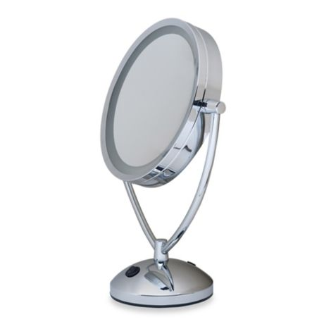 Buy 1x 10x Magnifying Lighted Chrome Vanity Mirror From
