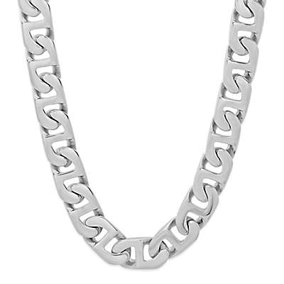 Stainless Steel 24-Inch Men's Flat Mariner Link Chain
