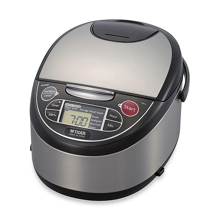 Alternate image 1 for Tiger Multi-Functional Micom 5.5-Cup Rice Cooker and Warmer in Black