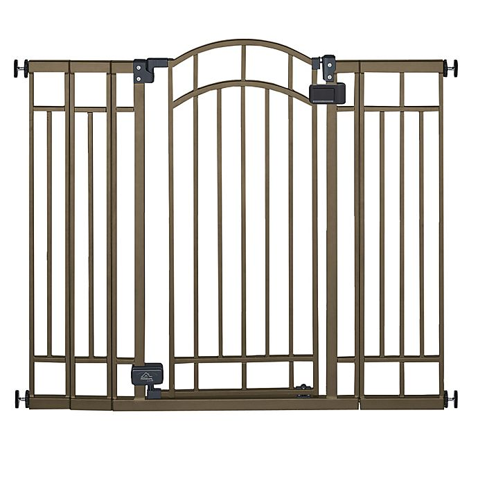 Alternate image 1 for HOMESAFE™ by Summer Infant® Multi-Use Deco Extra Tall Walk-Thru Gate in Bronze