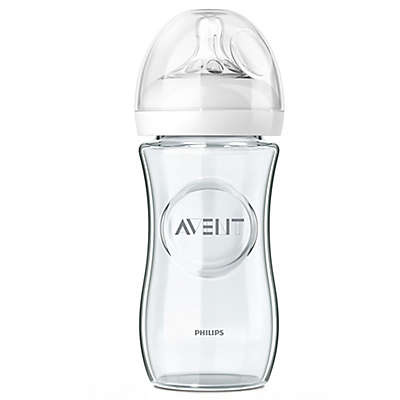 Philips Avent Natural 3-Pack 8 fl. oz. Glass Bottles