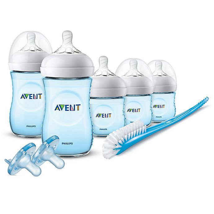 Alternate image 1 for Philips Avent Natural Baby Bottle Essentials Gift Set in Blue
