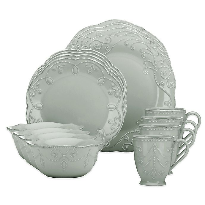 Alternate image 1 for Lenox® French Perle 16-Piece Dinnerware Set in Grey