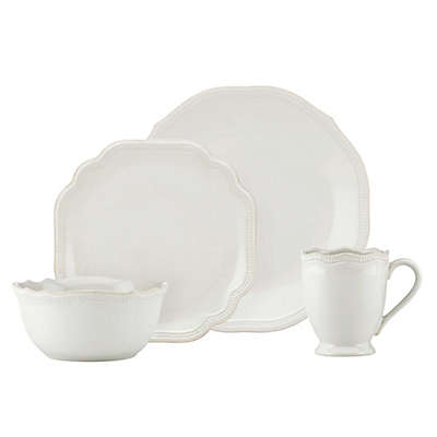 Lenox® French Perle Bead 16-Piece Dinnerware Set in White