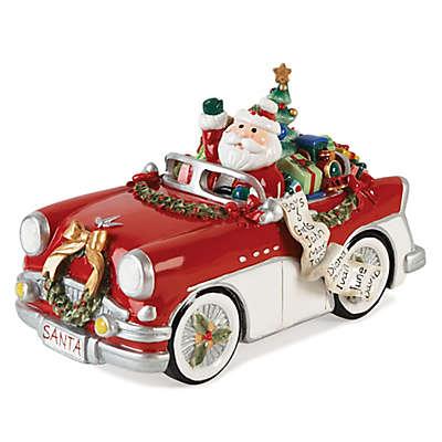 Fitz and Floyd® Merry & Bright Santa in Car Musical Figurine