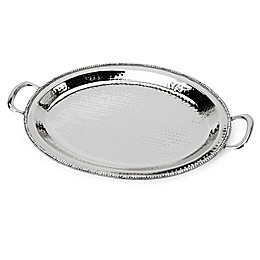 Classic Touch Hammered Stainless Steel Handled 21\