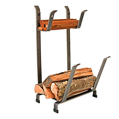 Enclume Country Home Log Rack with Kindling Holder
