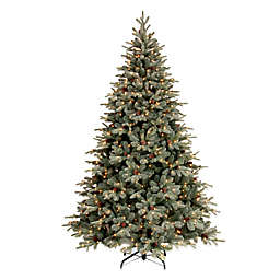 National Tree 7.5-Foot Feel Real® Frosted Arctic Spruce Pre-Lit Christmas Tree with Clear Lights