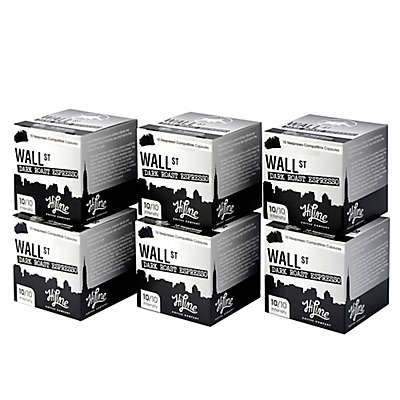 HiLine Coffee 60-Count Wall Street Dark Roast Espresso Capsules