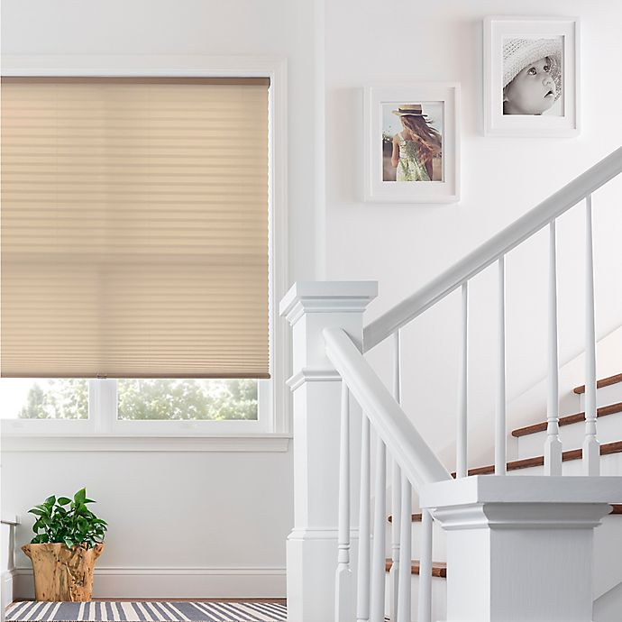 Alternate image 1 for Real Simple® Cordless Pleated 43-Inch x 72-Inch Shade in Wheat