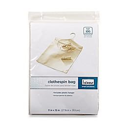 Canvas Clothespin Bag in Khaki