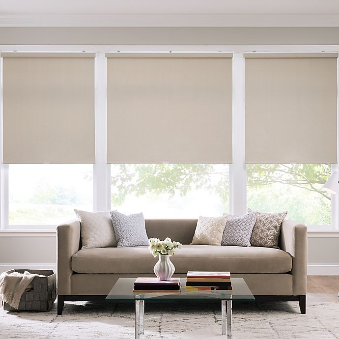 Alternate image 1 for Real Simple® Cordless Cotton Twill Roller 33-Inch x 74-Inch Shade in Taupe