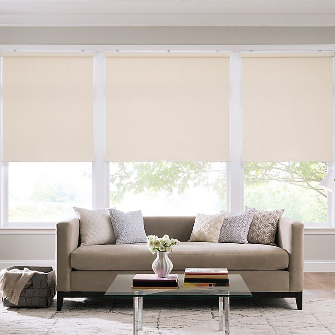 Alternate image 1 for Real Simple® Cordless Cotton Twill Roller 64-Inch x 74-Inch Shade in Cream