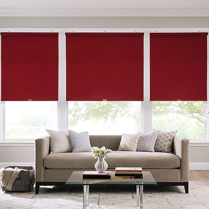 Alternate image 1 for Real Simple® Cordless Cotton Twill Roller 37-Inch x 74-Inch Shade in Crimson