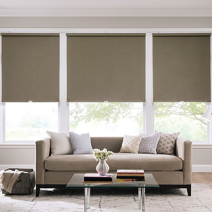 Alternate image 1 for Real Simple® Cordless Faux Silk Roller 33-Inch x 66-Inch Shade in Safari
