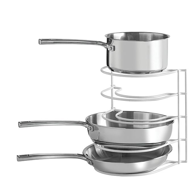 Alternate image 1 for SALT™ Pot and Pan Organization Rack in White