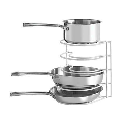 SALT™ Pot And Pan Organizer Rack in White