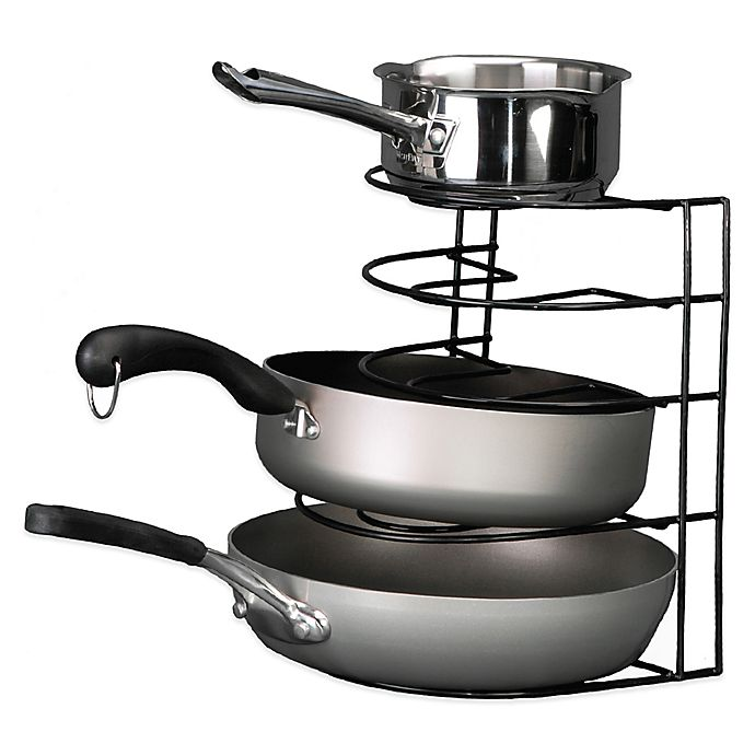Alternate image 1 for Grayline Pot and Pan Organizer Rack in Black