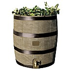 Round 35-Gallon Rain Barrel with Planter in Deco