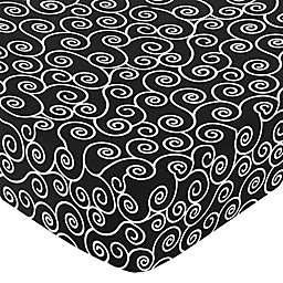 Sweet Jojo Designs Kaylee Fitted Crib Sheet in Scroll Print