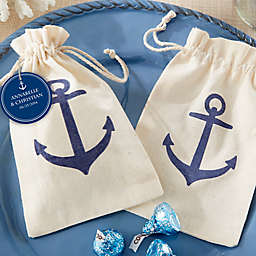 Kate Aspen® Voyages Anchor Muslin Favor Bag (Set of 12)