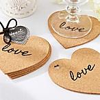 Kate Aspen® Heart Cork Coasters (Set of 4)