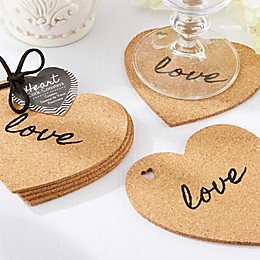 Kate Aspen® Heart Cork Coasters (Set of 4)