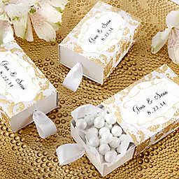 Kate Aspen® Treasures Favor Boxes in Gold Damask (Set of 24)