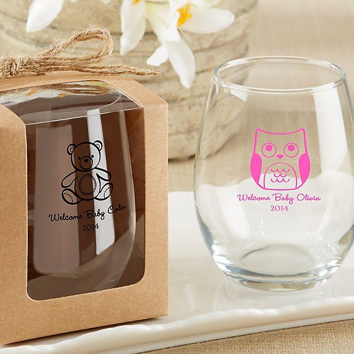 Alternate image 1 for Kate Aspen® Kraft Gift Boxes for Stemless Wine Glass (Set of 12)