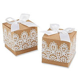 "Kate Aspen® ""Rustic & Lace"" Kraft Favor Boxes (Set of 24)"