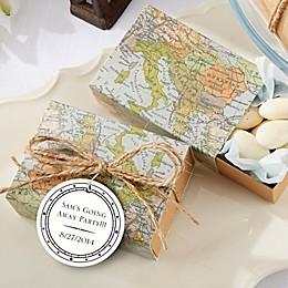 "Kate Aspen® ""Around the World"" Map Favor Box (Set of 24)"