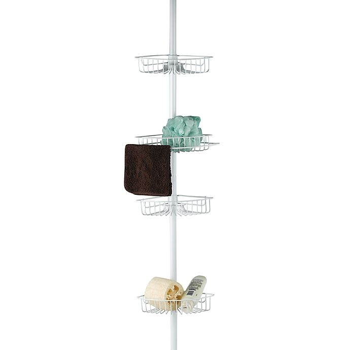 Alternate image 1 for 4-Shelf Tension Pole Shower Caddy