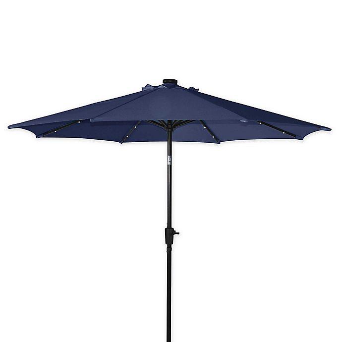 Alternate image 1 for Destination Summer 9-Foot Aluminum Solar Umbrella