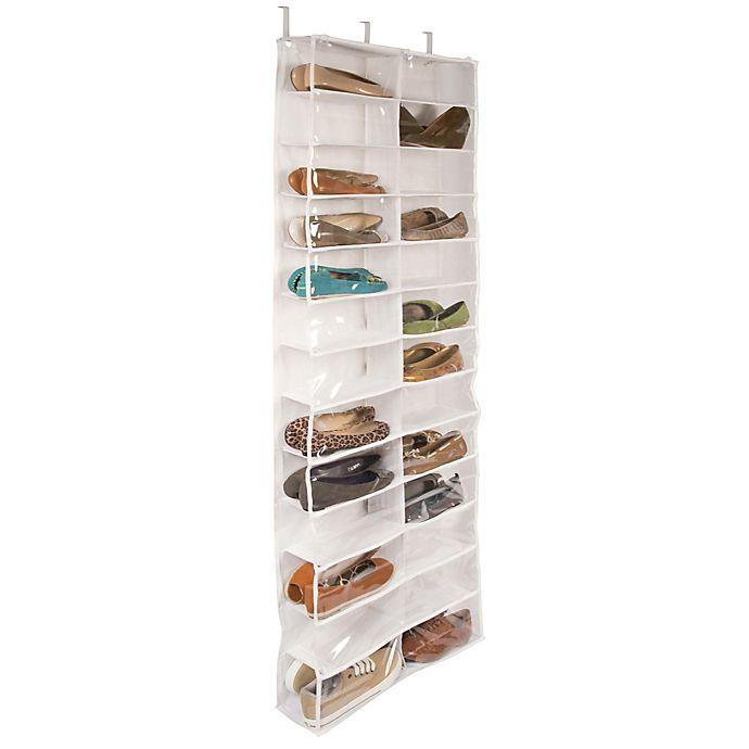 Alternate image 1 for Closetware Clear Over-the-Door 26-Pocket Shoe Organizer